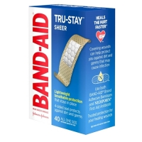 "Band-Aid 3/4"" Sheer Strips Adhesive Bandages 40 Count"