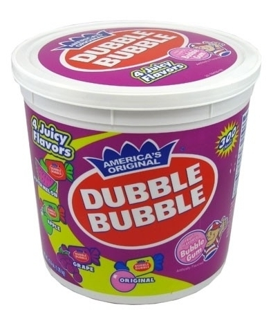 Dubble Bubble MIXED bucket - 300 count